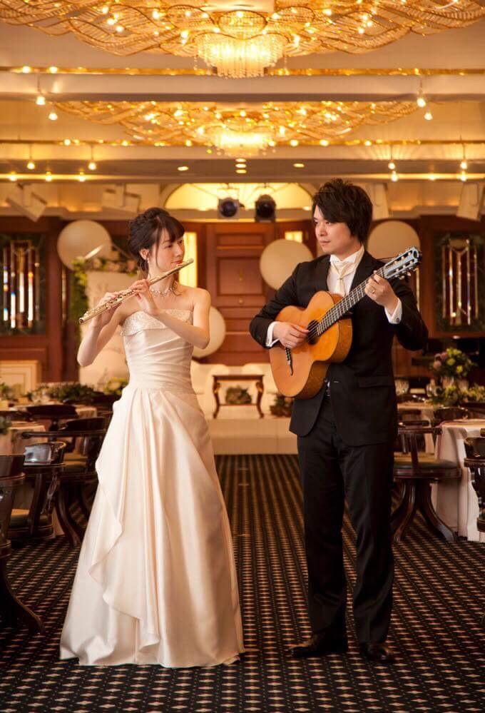 新潟市クラシックギター&フルート教室 出張演奏